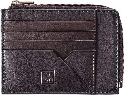 Mens wallet bifold in genuine leather credit card holder purse DUDU Green