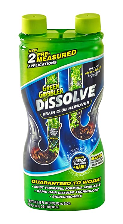 Amazoncom Green Gobbler GGDIS2CH32 DISSOLVE Liquid Hair Grease