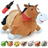 WALIKI TOYS Bouncy Horse Hopper Mr Jones (Hopping Horse, Inflatable Ride-On Pony, Ridding Horse For Kids, Jumping Horse, Pump Included)