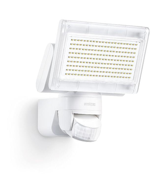 Steinel XLED home 1  Blanc 4000K- Nouveau Projecteur LED avec détecteur de mouvement 140° , Spot LED d'une puissance de 14,8 Watt et luminosité de 1020 lm, Éclairage extérieur avec 4000K couleu