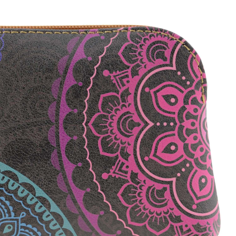 Monedero Piel Mandalas Amichi Talla: U Color: Cuero: Amazon ...