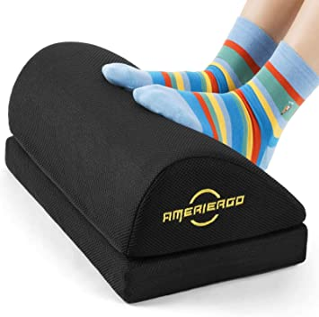 Amazon Com Ameriergo Adjustable Foot Rest Office Under Desk Foot Rest With 2 Adjustable Heights Ergonomic Foot Rest With Non Slip Bottom Foot Rest Cushion With Mesh Breathable Washable Cover Office Products