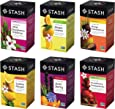 Stash Tea, Fruity Herbal Tea Six Flavor Assortment, 116 Count Tea Bags in Foil (Pack of 6 boxes of 18-20 bags each) Variety of Herbal Tisane