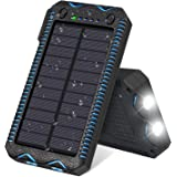 Solar Charger 13000mAh, FEELLE Solar Power Bank Waterproof Portable Battery Charger for iPhone,iPad,Samsung, Smart Phones and More