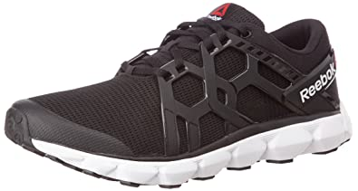 99f03077fb30 Reebok Men s Hexaffect Run 4.0 MTM Black and White Running Shoes - 7  UK India