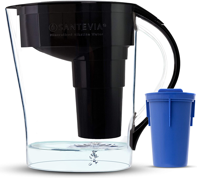 Santevia Water Systems Alkaline Pitcher - MINA Slim Black