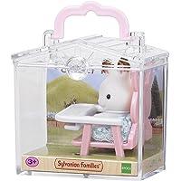 Sylvanian Baby Carry Case Families Valisette + Bébé Lapin + Chaise, 5197, Multicolore, Norme