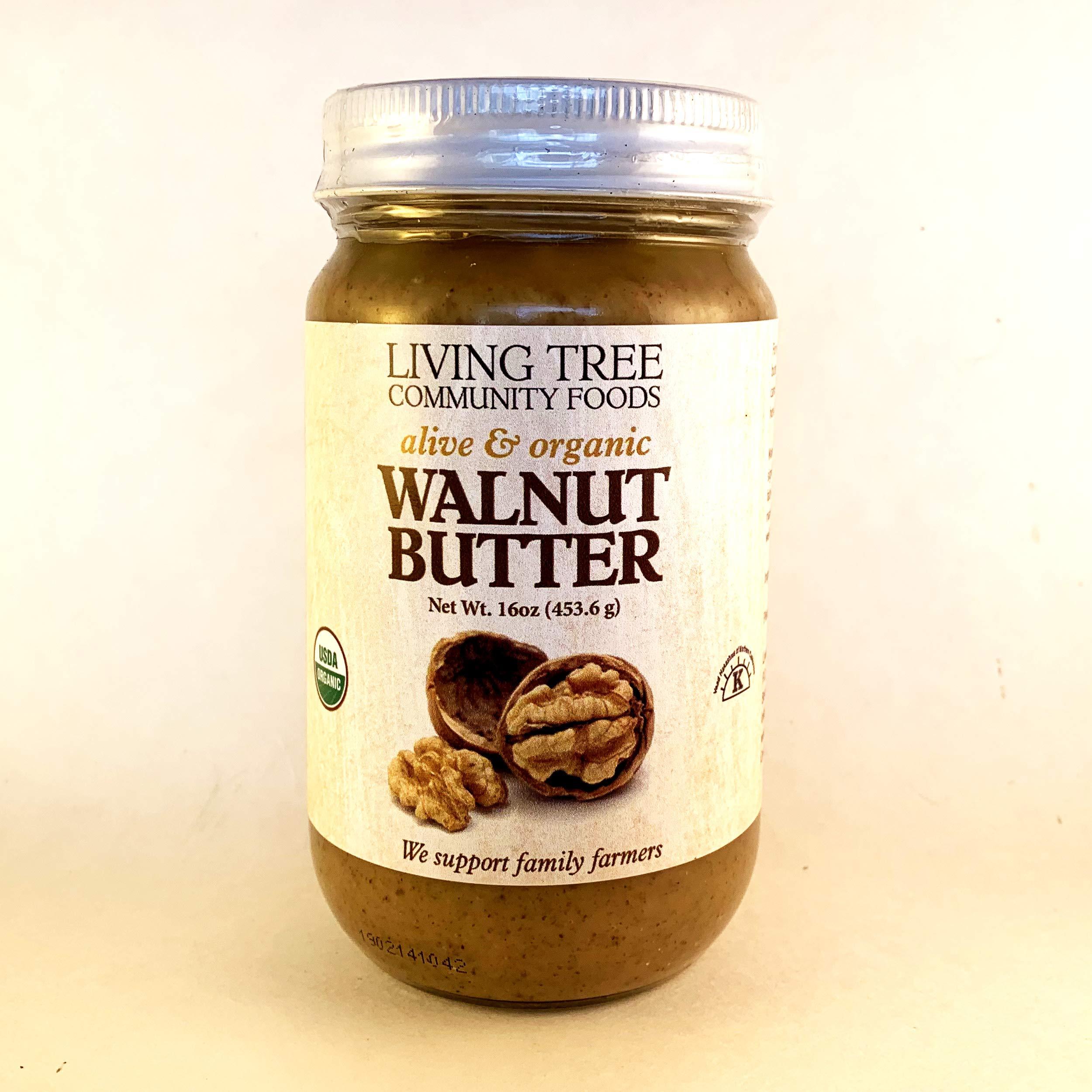 Living Tree Organic Raw Walnut Butter - 16 ounce