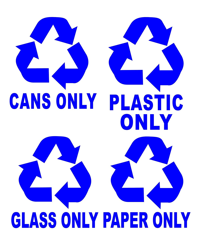 Amazon Recycle Symbols Cans Plastic Glass Paper Trash Bin