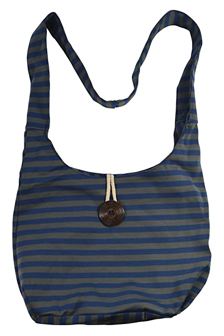 Amazon.com  Ethnic 100% Cotton Material Nepal Hippy Hobo Boho Bag Sling  Gypsy Cross body Tribal Aztec Bag (Blue Stripes)  Shoes 3feeb0ddb2dff