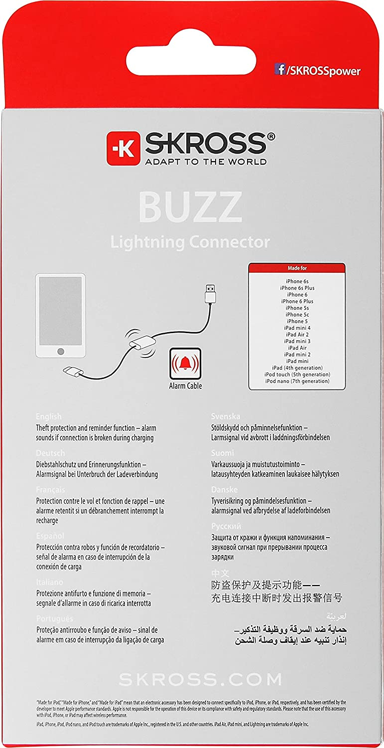 Amazon.com: Skross Buzz Lightning Connector Charge and Sync ...