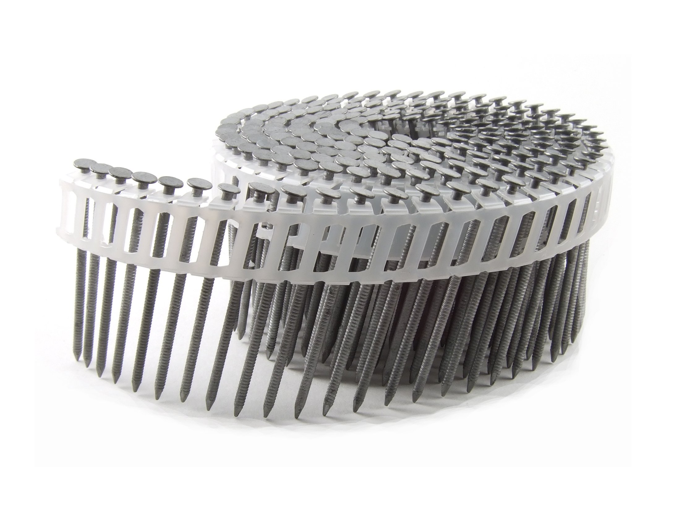 B&C Eagle 112X092HDRPC Round Head 1-1/2-Inch x .092 x 15 Degree Hot Dip Galvanized Ring Shank Plastic Collated Coil Nails (6,000 per box)