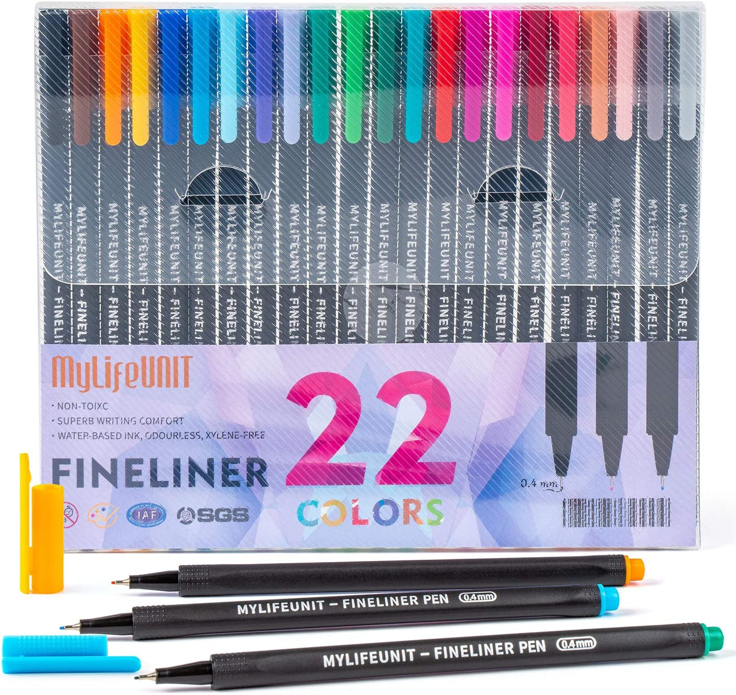 Fineliners Colored Pens Set of 100 Fine Point Journal Planner Pens for Sketch W