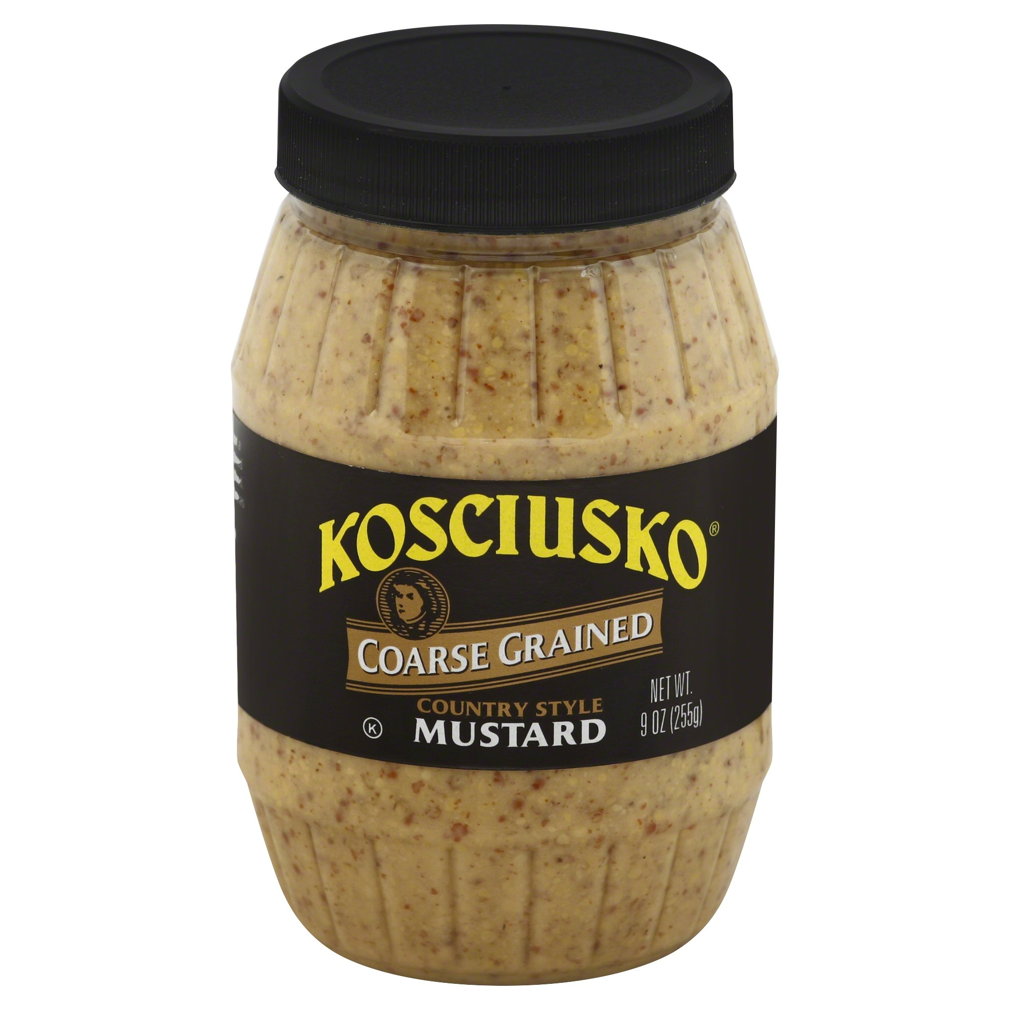 Plochman's Kosciusko Coarse Grained Country Style Mustard, 9 Ounce (Pack of 12)