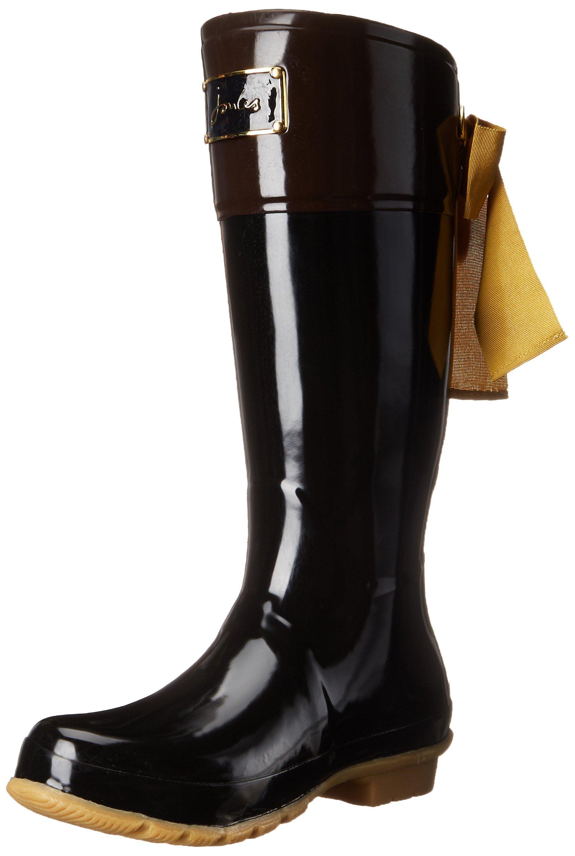 Joules Women's Evedon Rain Boot, Black, 9 M US