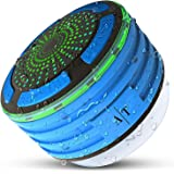 Bluetooth Speakers, Auto Tech IPX7 Portable Wireless Waterproof Bluetooth Speaker with FM Radio and LED Mood lights, Super Bass and HD Sound for Shower, Pool, Beach, Kitchen&Outdoor