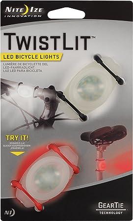 TLT-2PK-A1P1 ~ Brand New Nite Ize 2 ct TwistLit LED Bike Light Red /& White