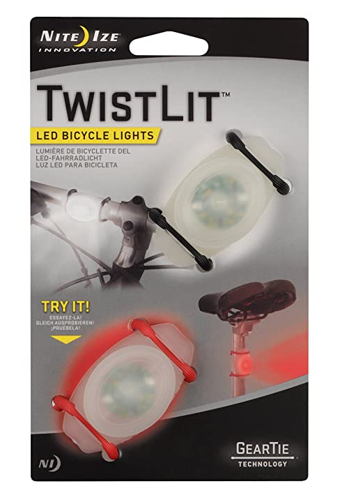 Amazon.com : Nite Ize TwistLit LED Bike Light (2-Pack), Red and ...