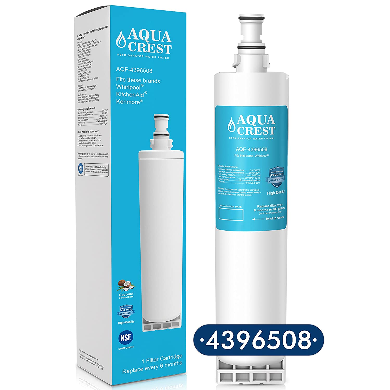 Amazon.com: AQUACREST 4396508 Refrigerator Water Filter Replacement ...