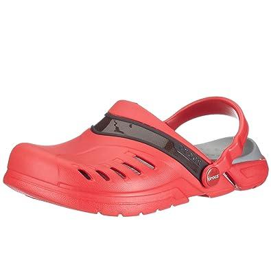 2748a4acefdab Unisex Slip On Crocs Prepair Clog - Red Black - Size 3-4 UK - 36-37 ...