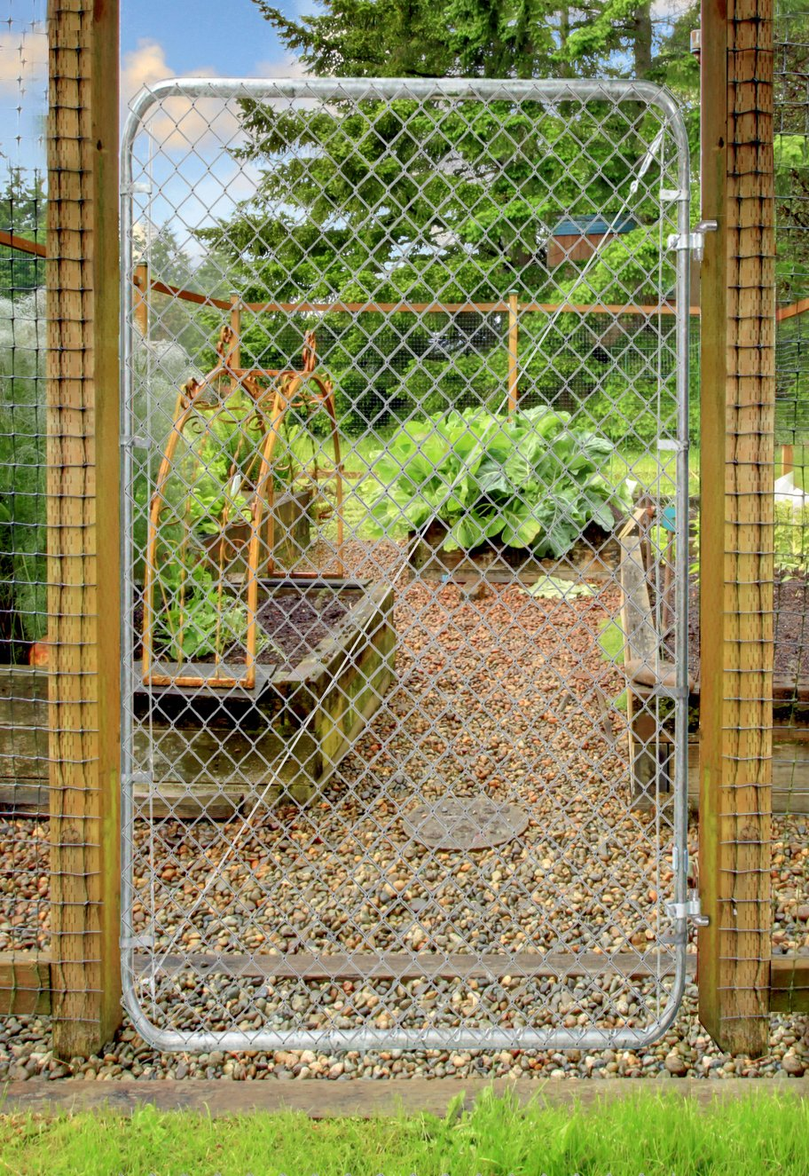 Fit-Right Chain Link Fence Walk-through Gate Kit (24''-72'' wide x 4' high) by Adjust-A-Gate (Image #4)