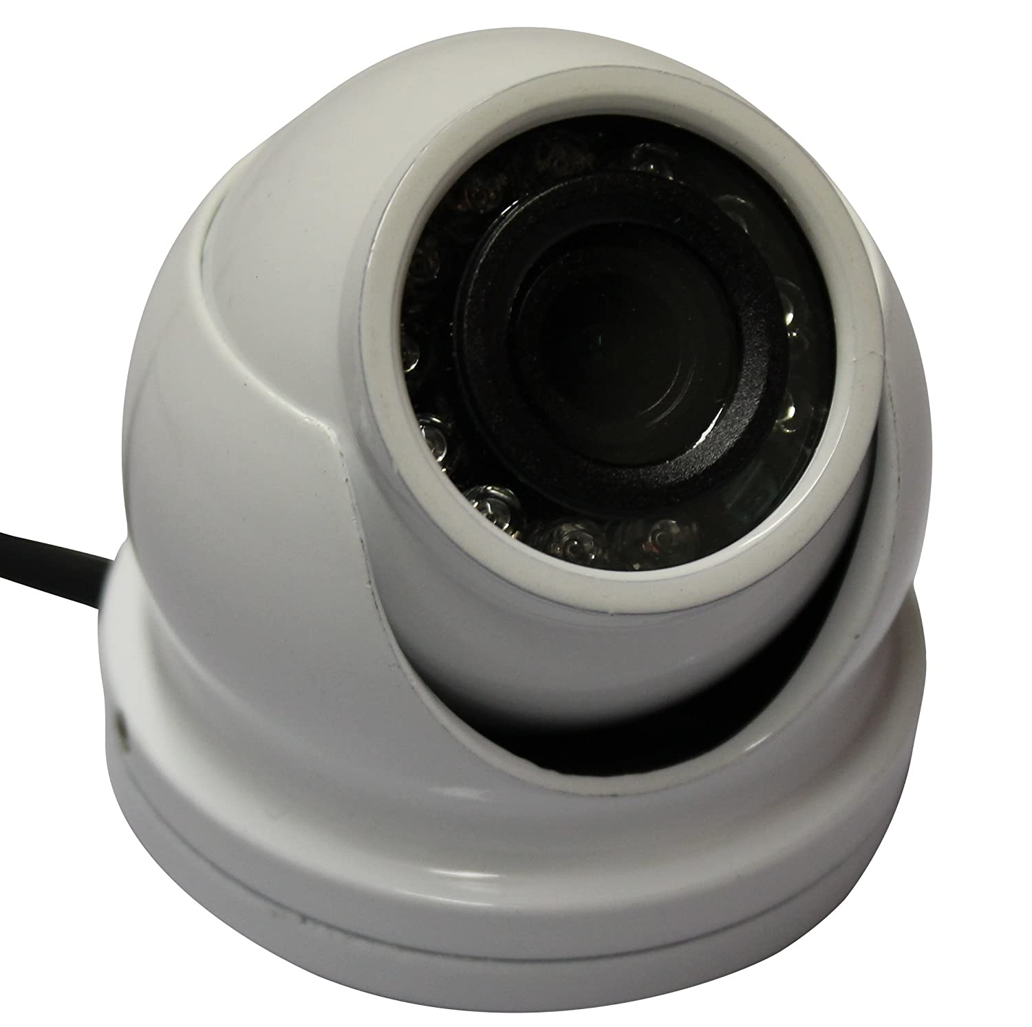 Kenuco 1080p HD TVI IR Mini Dome Camera : White, 2.8mm Lens [並行輸入品] B01N9NL74J