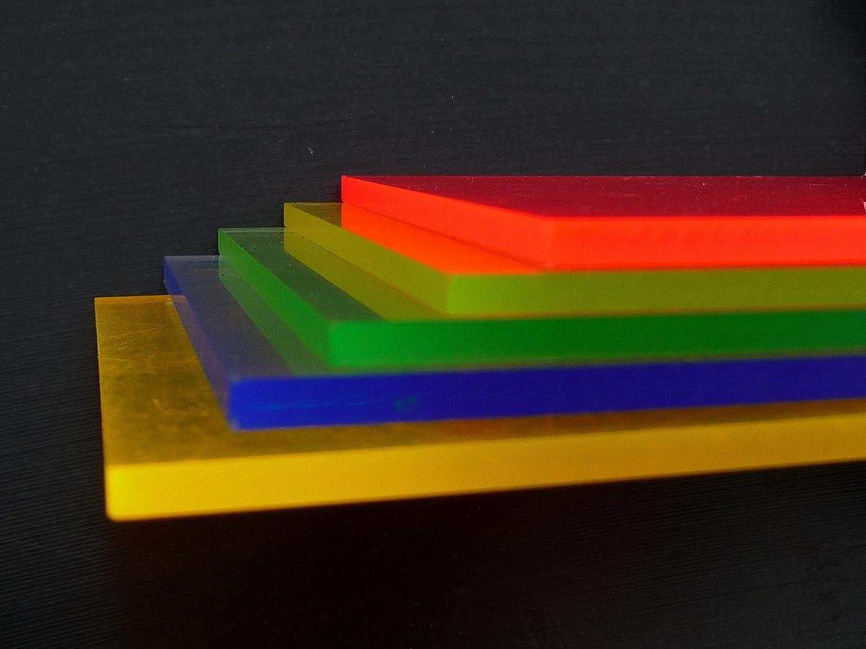 Fluoreszierend rot Zuschnitt alt.intech/® 1000 x 500 x 3 mm Platte Acrylglas GS