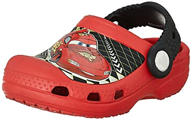 e1f804a16b5 crocs Boy's CC Lightning McQueen Red Clogs and Mules - C8/C9: Buy ...