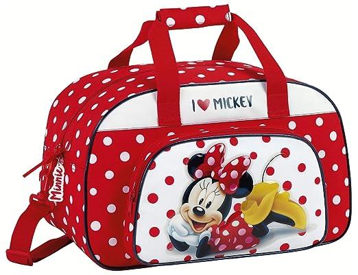 02d90228fa Minnie Mouse Sac de Sport Enfant, 40 cm, Multicolore (Rojo Y Blanco ...