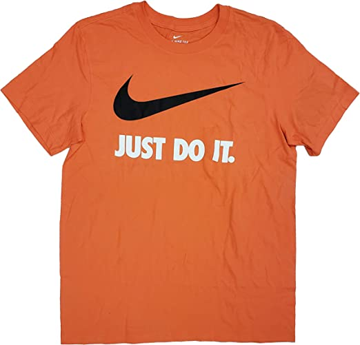 orange nike shirt just do it