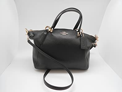 Image Unavailable. Image not available for. Color  Coach Leather Small  Kelsey Cross Body Bag, Medium, Black e33356f371