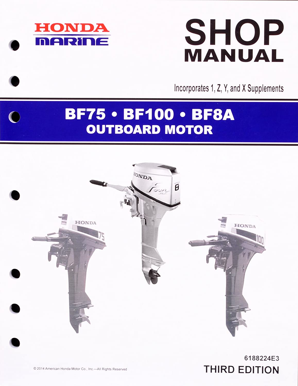 Amazon.com : Honda BF75 BF100 BF8 Marine Outboard Service Repair Shop Manual  : Sports & Outdoors