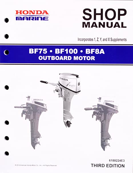 amazon com honda bf75 bf100 bf8 marine outboard service repair rh amazon com honda bf100 workshop manual honda bf100 owners manual