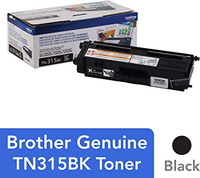 2 PACK GENUINE OEM BROTHER TN315BK BLACK TONER CARTRIDGES