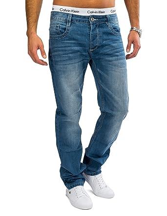 Coton En Légerstone WashedEt De HommesBlueregular FitAvec Jambe Pur Jeans Lavage H1622 La Droite T1clF3KJ