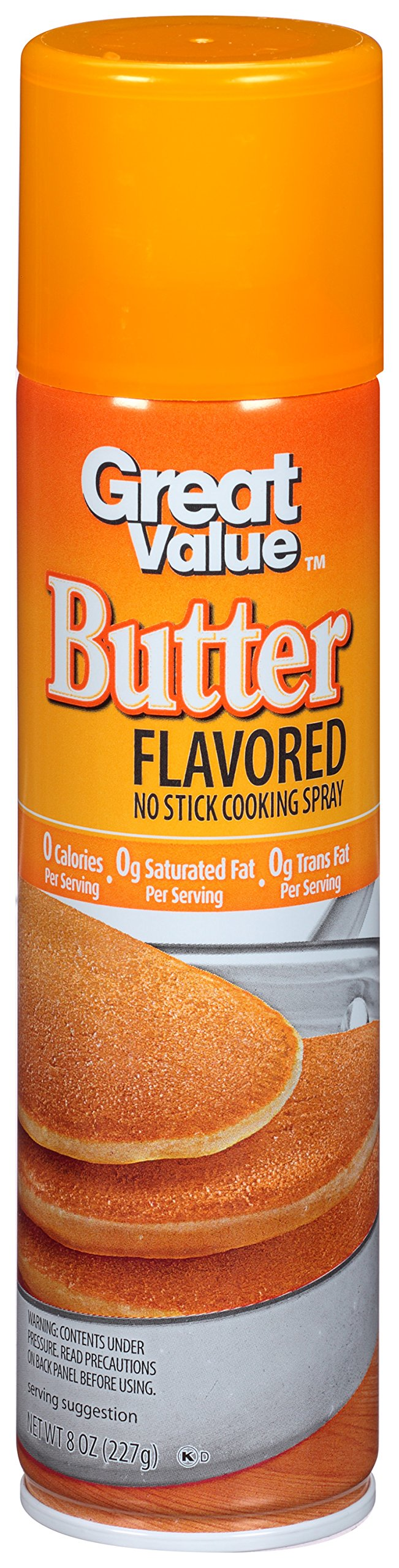 PACK OF 12 - Great Value Butter Flavored Cooking Spray, 8 oz