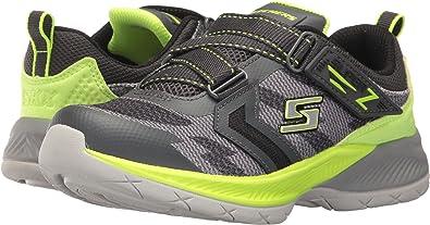 Skechers Big Kid Lunar Sonic, Sneaker, Gray/ Lime, 10.5 M