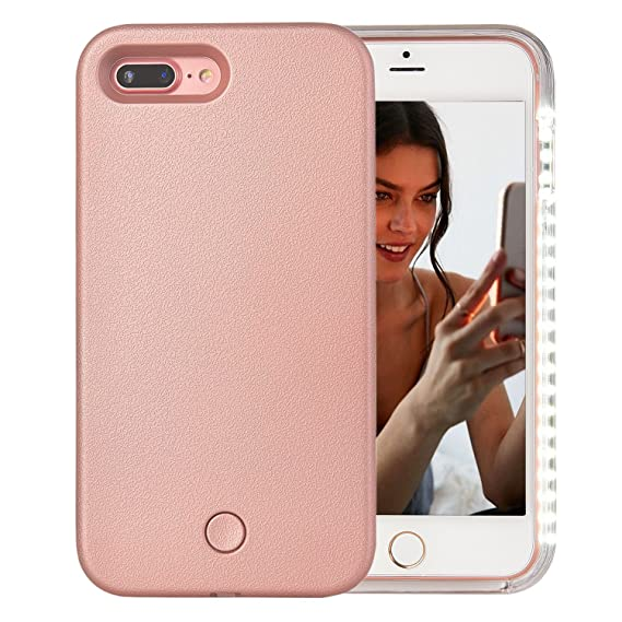 best service 12381 8d3b3 iPhone 7 Plus Case, iPhone 8 Plus Case, AUYOUWEI LED Illuminated Selfie  Light Case Cover [Rechargeable] Light Up Luminous Selfie Flashlight Cell  Phone ...