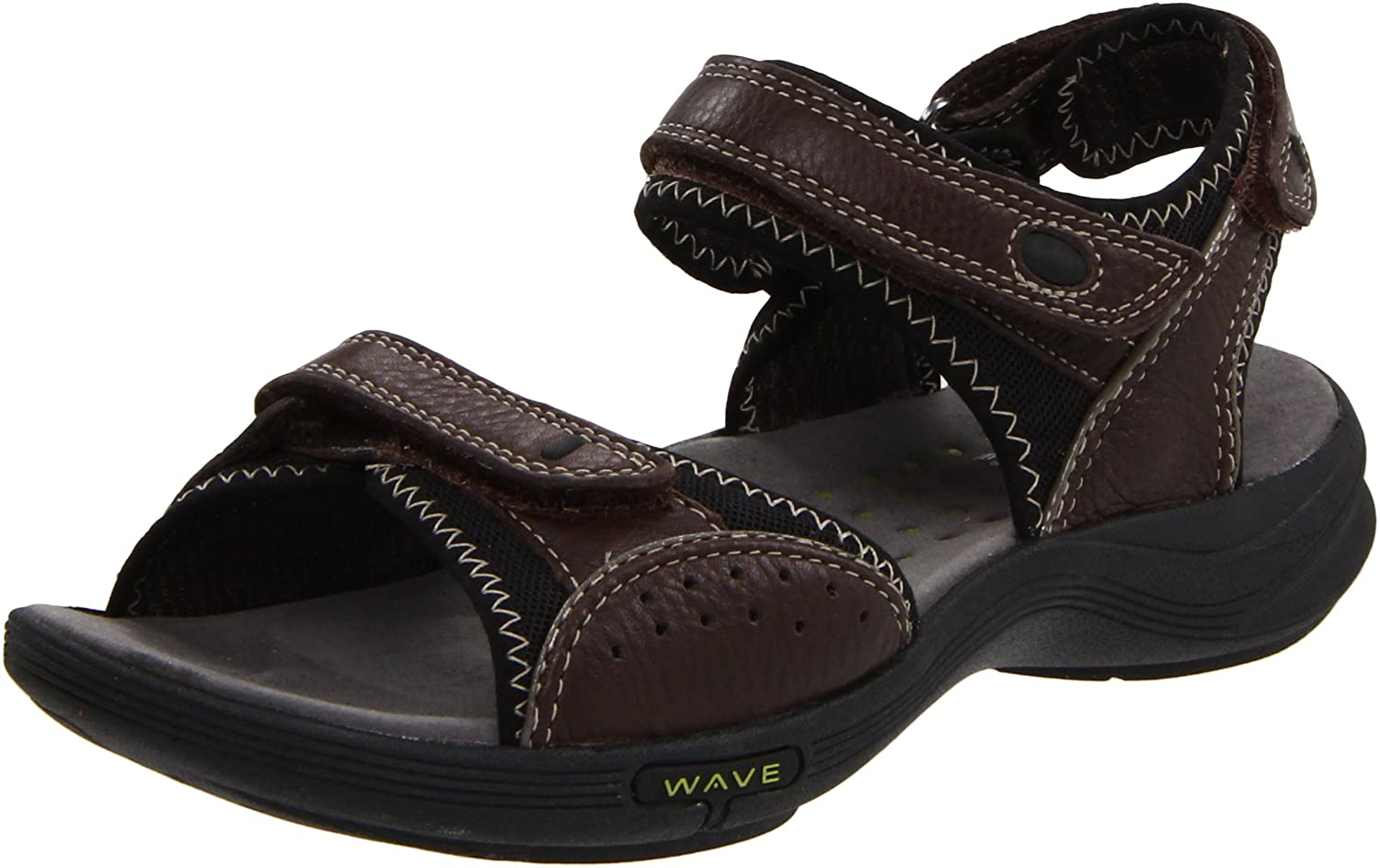 Amazon.com | CLARKS Women's Wave Current, Brown Leather, 5 M US | Sport  Sandals & Slides