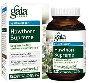 Gaia Herbs Hawthorn Supreme Vegan Capsules 60 Count Promotes Heart Health And Stimulates
