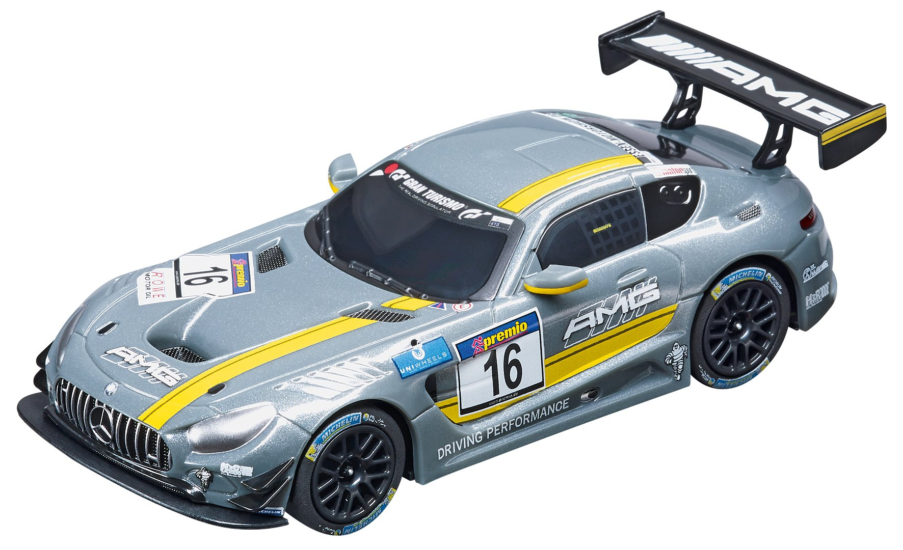 Carrera GO!!! 64061 Mercedes-AMG GT3, No.16 Slot Car Racing Vehicle by Carrera