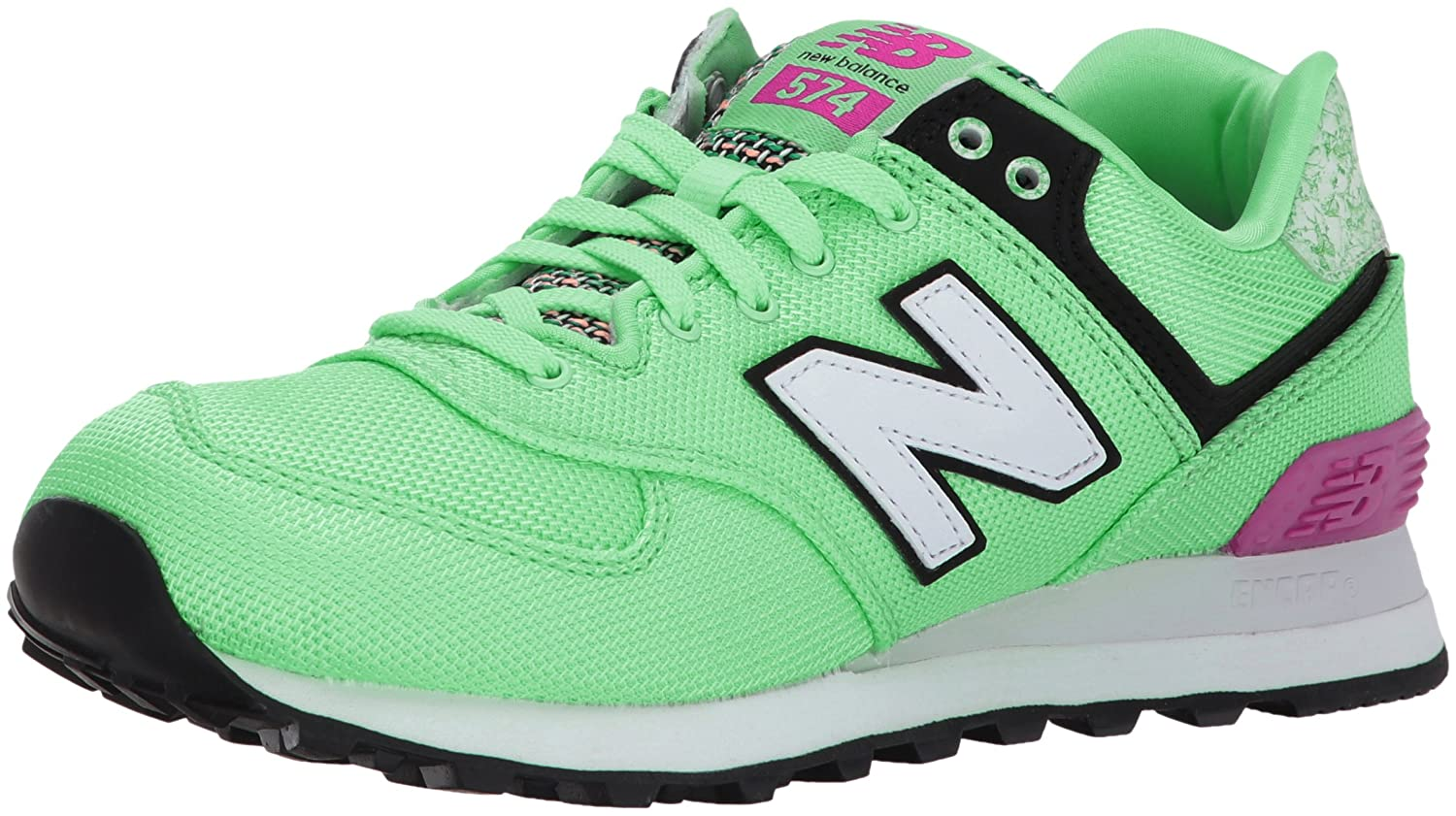 New Balance Women's 574v1 Art School Sneaker B01MRN4G3A 10 D US|Agave/Poisonberry