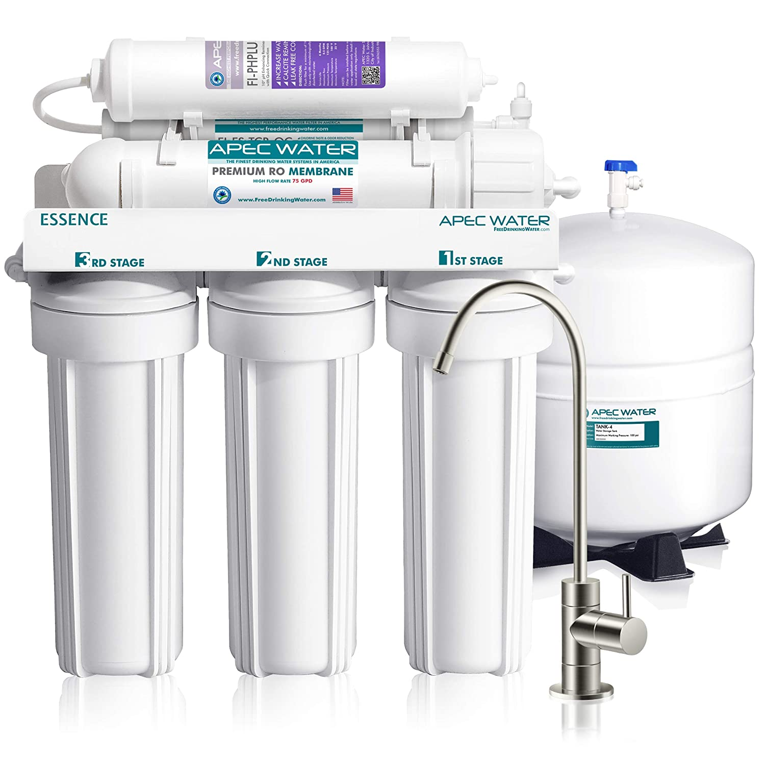 APEC 6-Stage Ultra Safe Reverse Osmosis Drinking Water Filter System