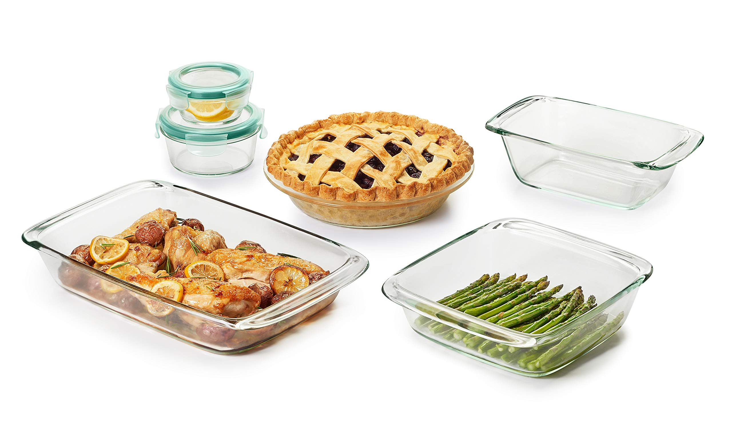 OXO Good Grips 8 Piece Freezer-to-Oven Safe Glass Bake, Serve and Store Set by OXO (Image #2)
