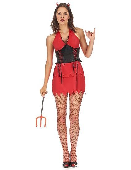Disfraz de diablesa mujer - S: Amazon.es: Juguetes y juegos