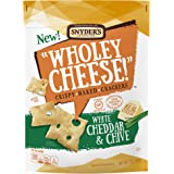 Snyder's of Hanover Wholey Cheese! Gluten Free Baked Crackers, White Cheddar & Chive, 5 oz