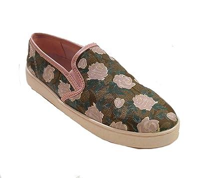 b905d665 Amazon.com | Coach Camo Floral Slip On Shoes Khaki Pink | Shoes