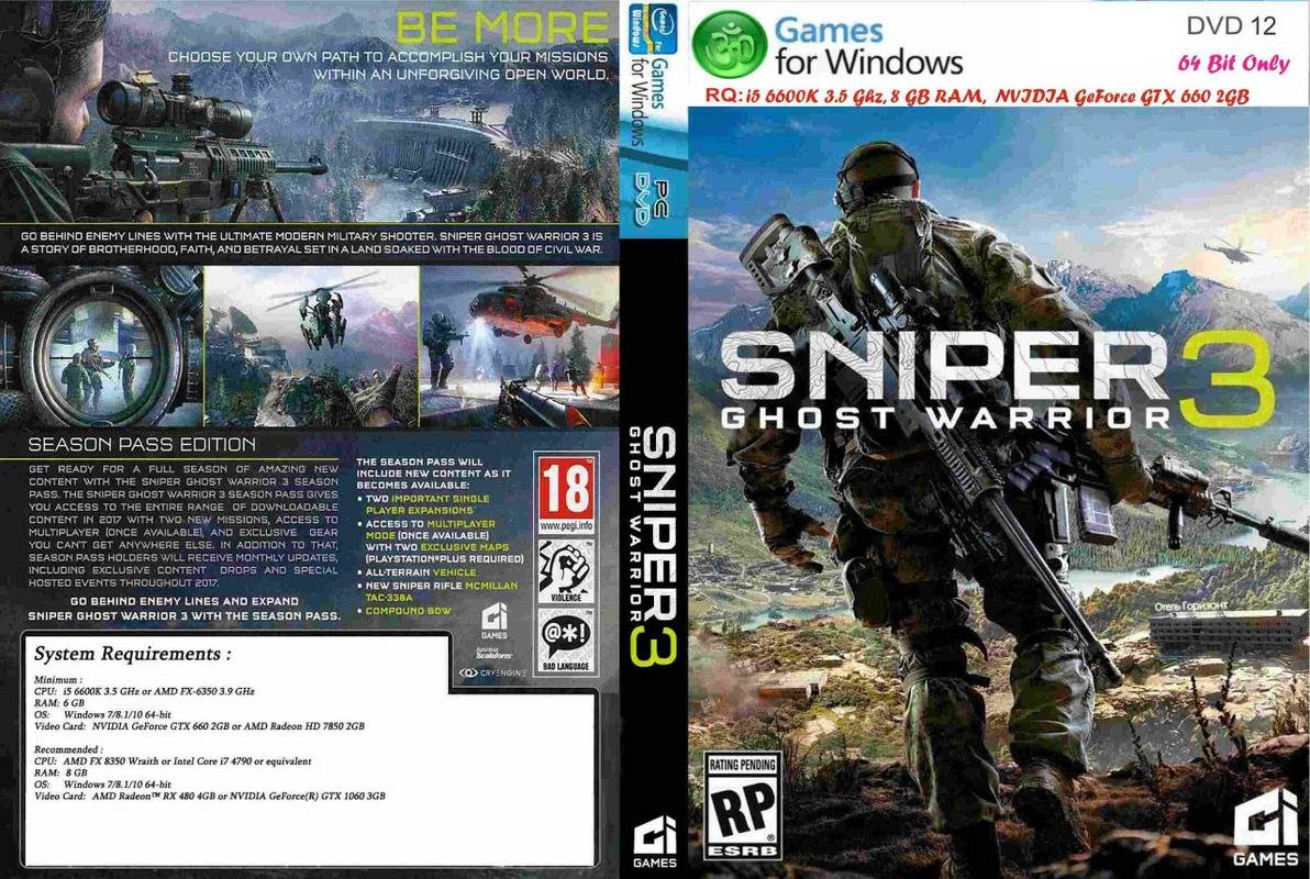 Buy Om Game World Sniper 3 Ghost Warrior PC Game DVD Online