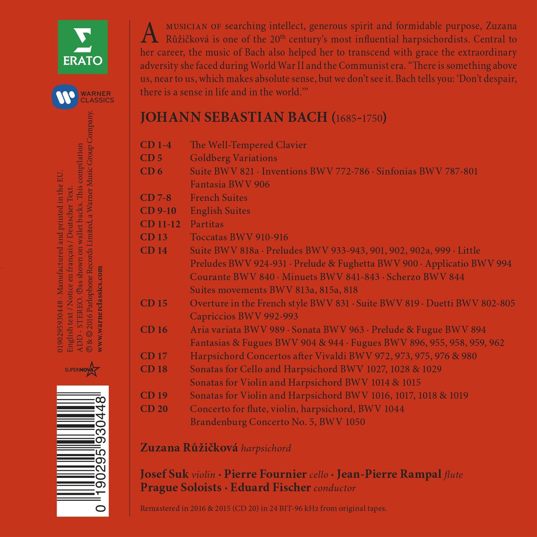 Bach: The Complete Keyboard works. (20CD) by WARNER CLASSICS, BOX CLASSICA, ERATO, MUISCA BAROCCA, MUSICA DA CAMERA,