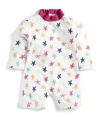 Mamas /& Papas Baby-M/ädchen Starfish Rash Suit Badeanzug